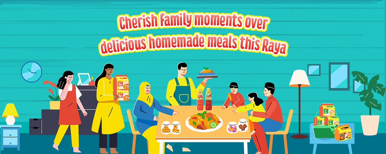 Cherish Family moments over delicious homemade meals this Raya