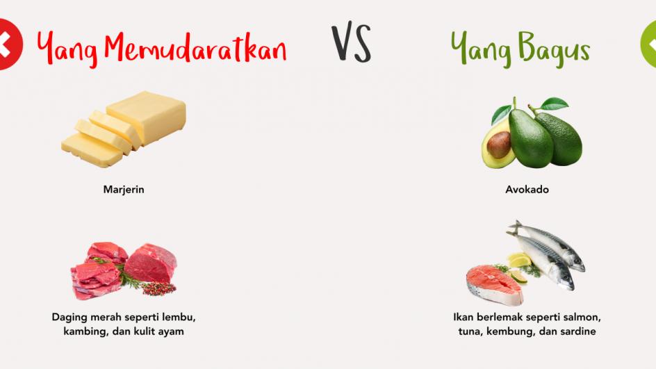 Yang Memudaratkan vs Yang Bagus - Daging Merah vs Ikan Berlemak
